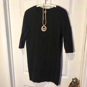 Black Medium 3/4 Sleeve Old Navy Dress